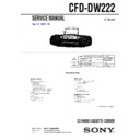 Sony CFD-DW222 Service Manual