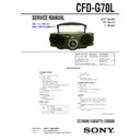 Sony CFD-G70L Service Manual