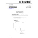 Sony CFD-S20CP (serv.man2) Service Manual