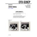 Sony CFD-S20CP (serv.man3) Service Manual