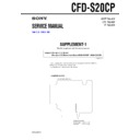 Sony CFD-S20CP (serv.man5) Service Manual