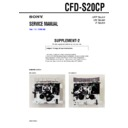 Sony CFD-S20CP (serv.man6) Service Manual