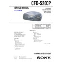 Sony CFD-S20CP Service Manual