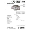 Sony CFD-S400, CFD-S500 Service Manual