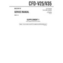 Sony CFD-V25, CFD-V35 (serv.man2) Service Manual