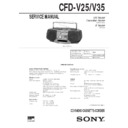 Sony CFD-V25, CFD-V35 Service Manual