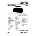 Sony CFD-V30 (serv.man2) Service Manual
