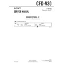 Sony CFD-V30 (serv.man9) Service Manual