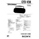Sony CFD-V30 Service Manual
