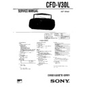 Sony CFD-V30L (serv.man2) Service Manual