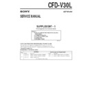 Sony CFD-V30L (serv.man3) Service Manual