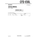 Sony CFD-V30L (serv.man6) Service Manual