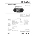 Sony CFD-V34 Service Manual