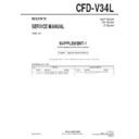 Sony CFD-V34L Service Manual