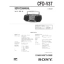 Sony CFD-V37 Service Manual