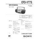 Sony CFD-V77S Service Manual