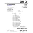 Sony CMT-C5 Service Manual