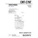 Sony CMT-C7NT Service Manual