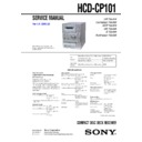Sony CMT-CP101, CMT-CP101K, HCD-CP101 Service Manual