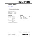Sony CMT-CP101K Service Manual