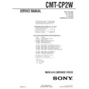 Sony CMT-CP2W (serv.man2) Service Manual