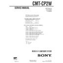 Sony CMT-CP2W Service Manual