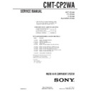 Sony CMT-CP2WA Service Manual