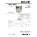 Sony CMT-CPX1, HCD-CPX1 (serv.man2) Service Manual