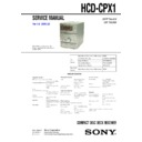 Sony CMT-CPX1, HCD-CPX1 Service Manual
