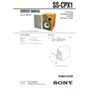 Sony CMT-CPX1, SS-CPX1 (serv.man2) Service Manual