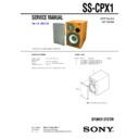 Sony CMT-CPX1, SS-CPX1 Service Manual