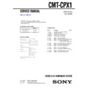 Sony CMT-CPX1 Service Manual