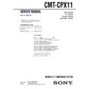 Sony CMT-CPX11 Service Manual
