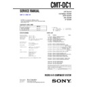 Sony CMT-DC1 Service Manual