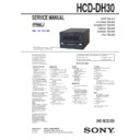 Sony CMT-DH30, HCD-DH30 Service Manual