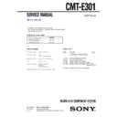 Sony CMT-E301 Service Manual