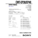 Sony CMT-EP30, CMT-EP40 Service Manual