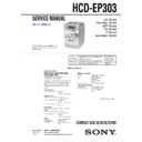 Sony CMT-EP303, HCD-EP303 Service Manual
