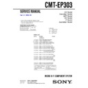 Sony CMT-EP303 Service Manual