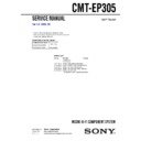 Sony CMT-EP305 Service Manual