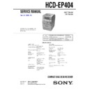 Sony CMT-EP404, HCD-EP404 Service Manual