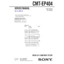 Sony CMT-EP404 Service Manual