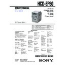 Sony CMT-EP50, HCD-EP50 Service Manual