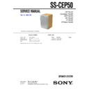 Sony CMT-EP50, SS-CEP50 Service Manual