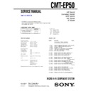 Sony CMT-EP50 Service Manual