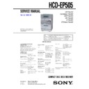 Sony CMT-EP505, HCD-EP505 Service Manual