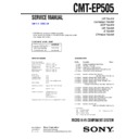 Sony CMT-EP505 Service Manual