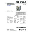 Sony CMT-EP50LIV, HCD-EP50LIV Service Manual
