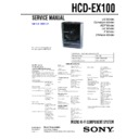 Sony CMT-EX100, HCD-EX100 Service Manual