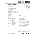 cmt-ex100 service manual